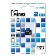 MicroSDHC 02Гб Mirex Класс 4 (без адаптера)