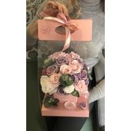Букет в сумочке средней розовой