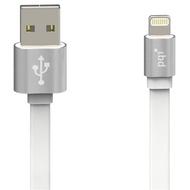 Кабель PQI i-Cable USB2.0-Lightning Metallic Silver (1м)
