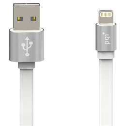 Кабель PQI i-Cable USB2.0-Lightning Metallic Silver (1м)