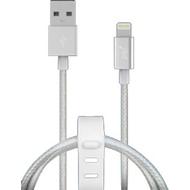 Кабель PQI i-Cable Mesh USB2.0-Lightning Silver (1м)