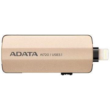 Накопитель USB3.1 A-Data AI720 i-Memory 32Гб Gold