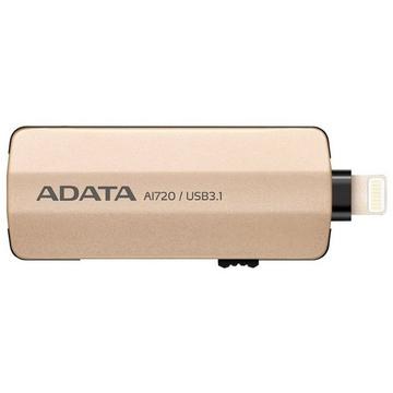 Накопитель USB3.1 A-Data AI720 i-Memory 64 гб Gold