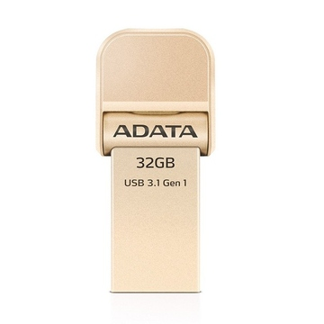 Накопитель USB3.1 A-Data AI920 i-Memory 32Гб Gold