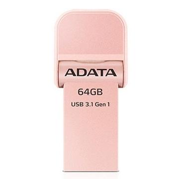 Накопитель USB3.1 A-Data AI920 i-Memory 64 гб Rose Gold
