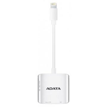 Картридер A-Data MicroSD/SD AI910 Lightning White (для iPhone/iPad)