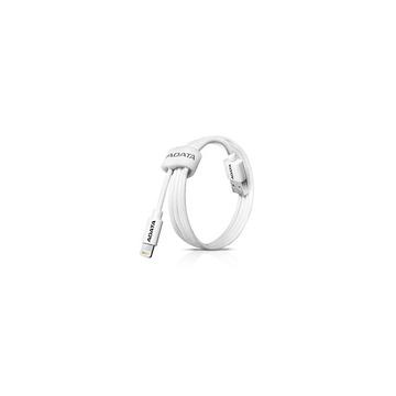 Кабель A-DATA Lightning-USB White (USB, Lightning, 1м)