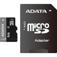MicroSDHC 08Гб A-Data Класс 10 UHS-I (адаптер)