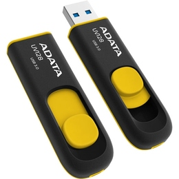 Флешка USB 3.0 A-Data UV128 16 Гб Black Yellow