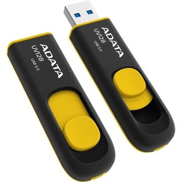 Флешка USB 3.0 A-Data UV128 32Гб Black Yellow