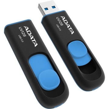 Флешка USB 3.0 A-Data UV128 64 гб Black Blue
