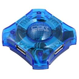 USB-хаб CBR CH-127 Blue (4 USB порта, USB 2.0)
