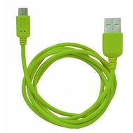 Кабель CBR Human Friends Super Link Rainbow M Green (USB, microUSB, 1м)