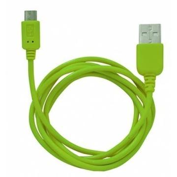 Кабель CBR Human Friends Super Link Rainbow M Green (USB, microUSB, 1м)