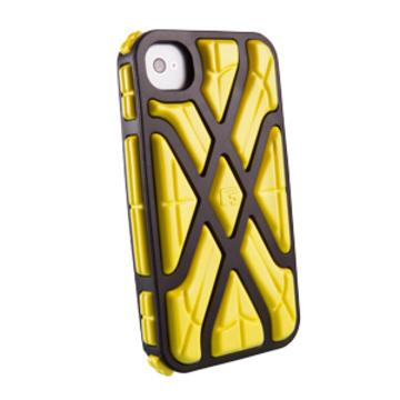 Футляр G-Form X-Protect Yellow Black (для iPhone 4S, противоударный, реактивная защита RPT)