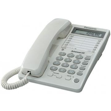 Panasonic KX-TS2362RUW White (30 ст., дисплей, часы, гнездо для гарнитуры, ламп)