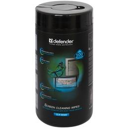 Влажные салфетки Defender CLN30320 (для ЖК экранов, в тубе 100шт)