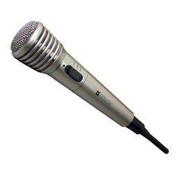 Defender MIC-140 Metall (беспроводной, для караоке и выступлений, шнур 3м, адаптер 6,3 мм jack/3,5 мм jack, 64140)