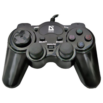 Геймпад Defender Game Racer Turbo GT (USB-PS/2, 10 кнопок, 2 джойстика, проводной, 64251)