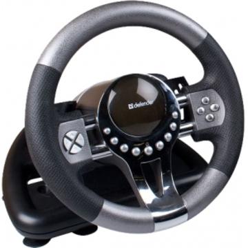 Руль игровой Defender Forsage (USB, 12 кнопок, рычаг коробки передач)