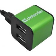 USB-хаб Defender Quadro Iron (4 USB порта, аллюминиевый корпус, 83506)