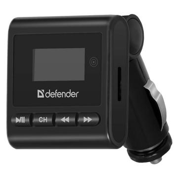 FM-Трансмиттер Defender 83554 RT-Basic (3,5-мм мини-джек, USB, карты SD/MMC, пульт)