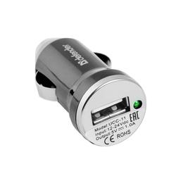 Зарядное устройство Defender UCC-11 Black (автомобильноеб USB, 1A)