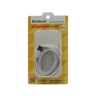 Кабель Defender ACH01-10BH USB(AM)-Lightning (3м) White