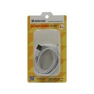 Кабель Defender ACH01-10BH USB(AM)-Lightning (3м) White
