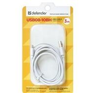 Кабель Defender USB08-10BH USB-microUSB M-M White (3м)
