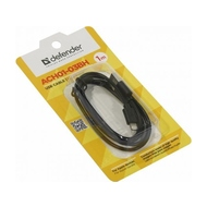 Кабель Defender ACH01-03BH USB(AM)-Lightning (1м) Black