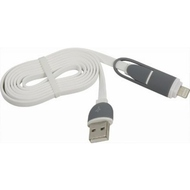 Кабель Defender USB10-03BP USB-microUSB-Lightning M-M White (1м)