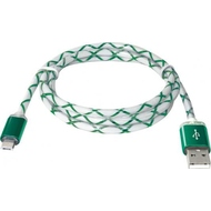 Кабель Defender USB08-03LT LED USB2.0-microUSB (1м) Green