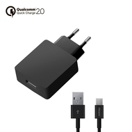 Зарядное устройство Deppa 11375 QuickCharge 2.0 Black (сетевое, 2A, кабель microUSB )