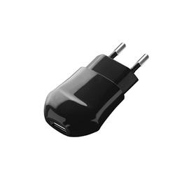 Зарядное устройство Deppa 23123 Black (сетевое, USB, 1A, без кабеля)