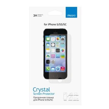 Пленка защитная Deppa 61201 (для iPhone5/5S, прозрачная)