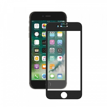 Стекло защитное Deppa 62037 Full (для iPhone 7 Plus, черная окантовка, толщина 0,3мм)