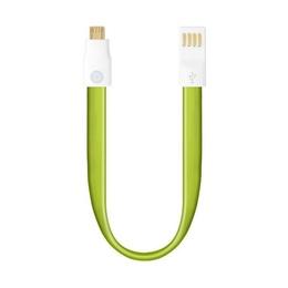 Кабель Deppa 72161 USB2.0-microUSB Green (плоский, 0,23м)