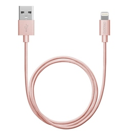 Кабель Deppa 72209 USB2.0-Lightning MFI Pink (1,2м)