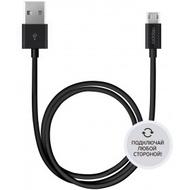 Кабель Deppa 72211 USB2.0-microUSB Black (1,2м)