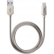 Кабель Deppa 72229 USB2.0-microUSB Alum Silver (1,2м)