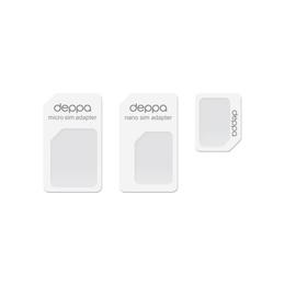 Адаптер Deppa 74000 Nano/Micro SIM White