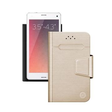 "Чехол Deppa Wallet Fold 87002 Gold (для смартфонов 3,5"" - 4,3"")"