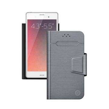 """Чехол Deppa Wallet Fold 87006 Gray (для смартфонов 4,3"""" - 5,5"""")"""
