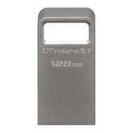 Флешка USB 3.0 Kingston Data Traveler Micro 3.1 128гб Silver