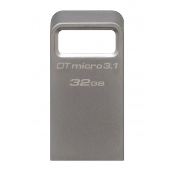 Флешка USB 3.0 Kingston Data Traveler Micro 3.1 32Гб Silver