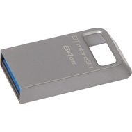Флешка USB 3.0 Kingston Data Traveler Micro 3.1 64 гб Silver