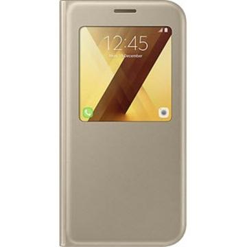 Чехол Samsung S-View Cover EF-CA720P Gold (для Samsung SM-A720 Galaxy A7 2017)