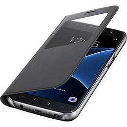 Чехол Samsung S-View EF-CG930P Black (для Samsung SM-G930F Galaxy S7)