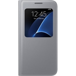 Чехол Samsung S-View EF-CG930P Silver (для Samsung SM-G930F Galaxy S7)